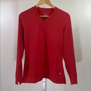 FILA 'Core Long Sleeve Top' Red NWT SZ S